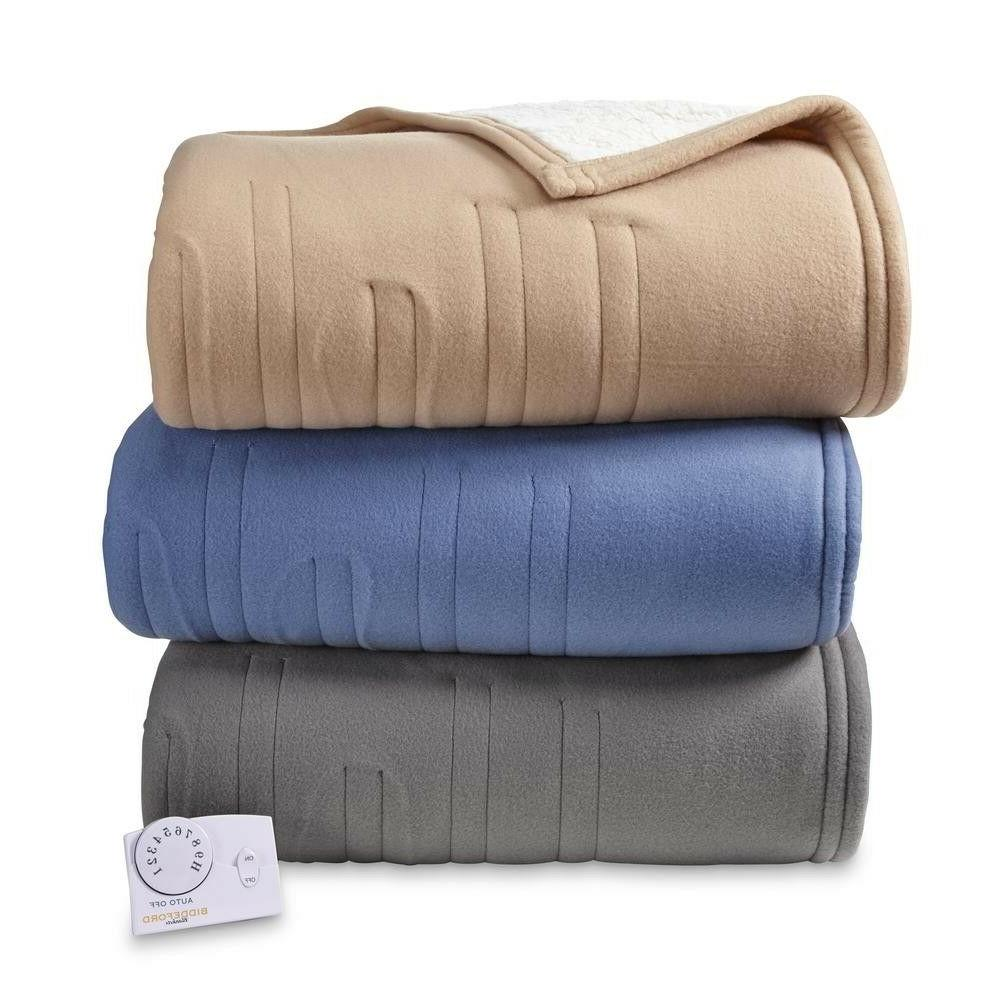 biddeford comfort knit and sherpa electric heated