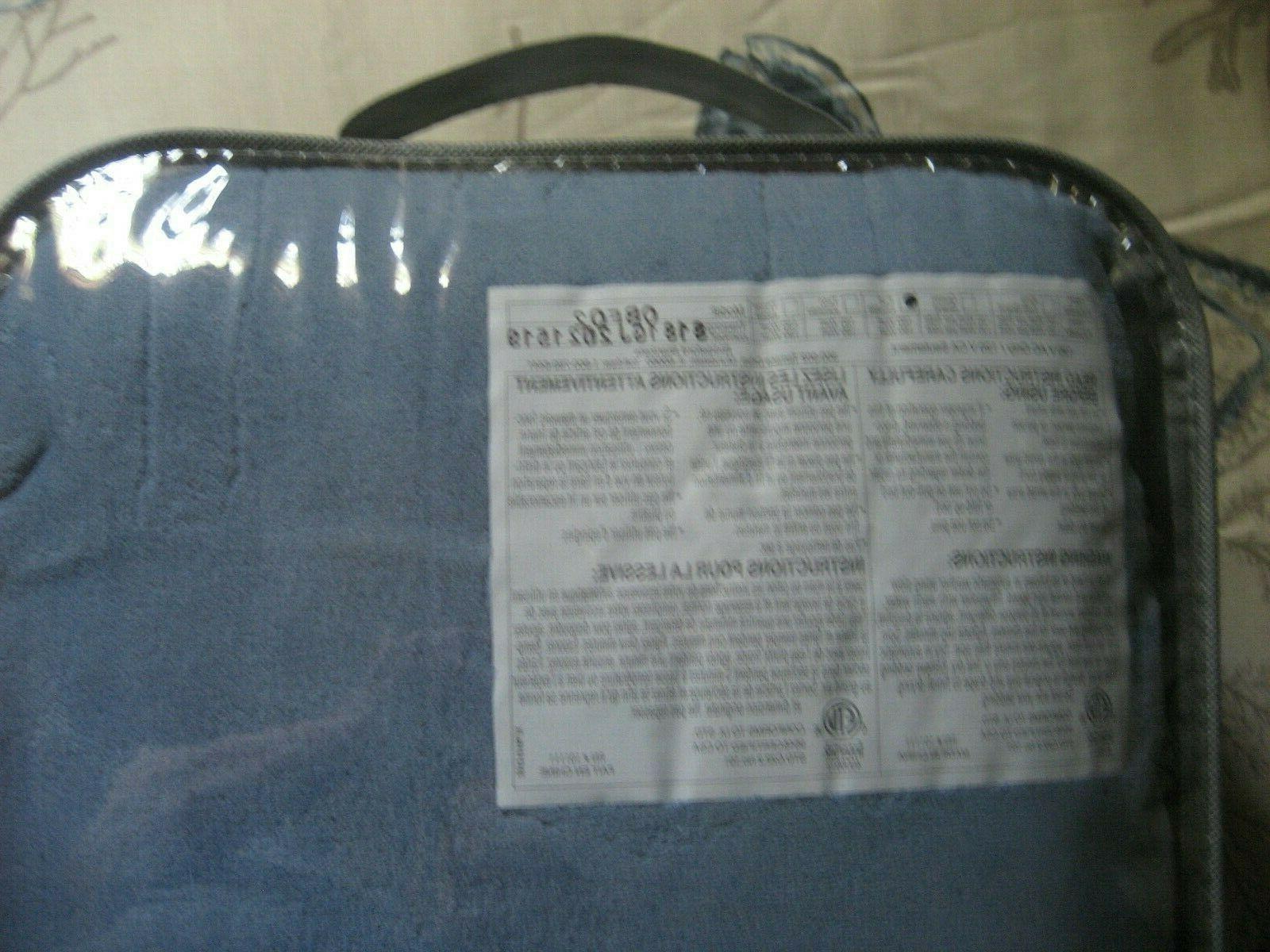 Biddeford Blanket Controller, Blue NEW