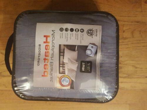 Biddeford Solid Heated Electric Blanket Controller Blue