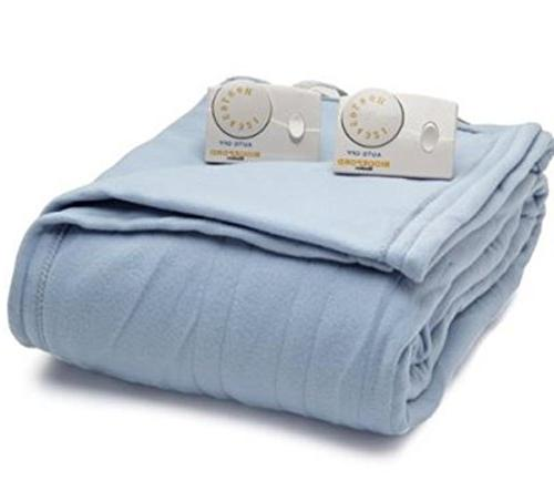 Heated Blanket, Blue