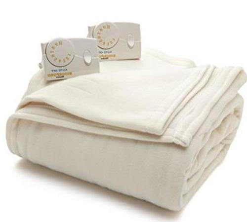 blankets comfort knit heated blanket