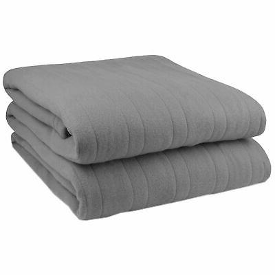 Biddeford Knit Fleece Electric Heated Warming Blanket