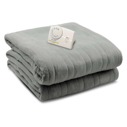 Biddeford Comfort Knit Fleece Heated Blanket Analog Control