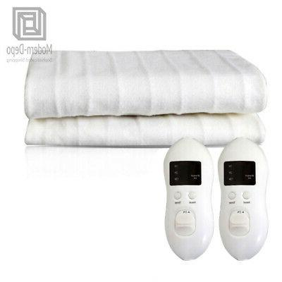 electric blanket heated mattress pad temperature timing