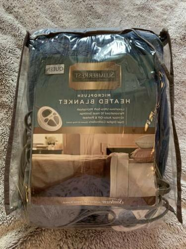 electric blanket microplush heated queen
