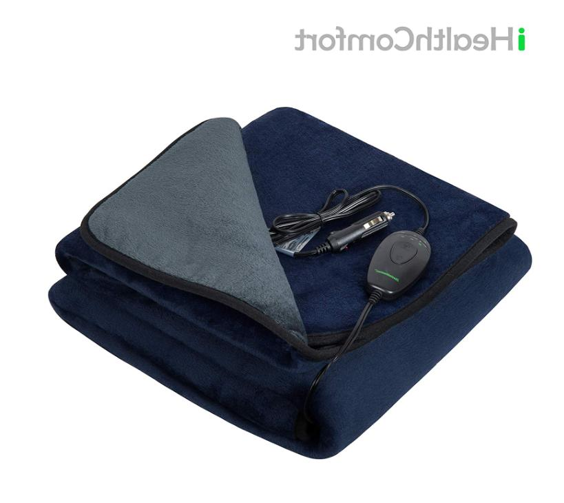 electric heated car blanket with intelligent temp