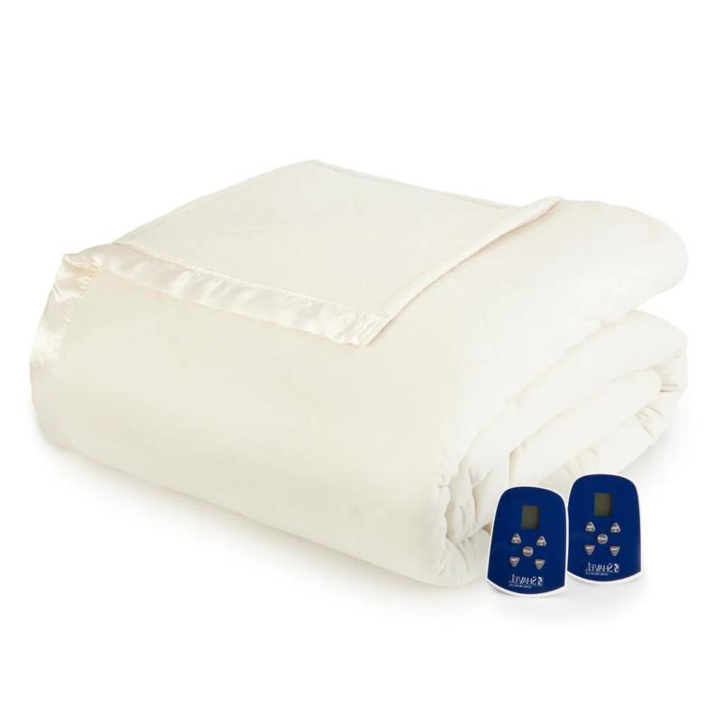 electric heated comforter blanket queen ivory