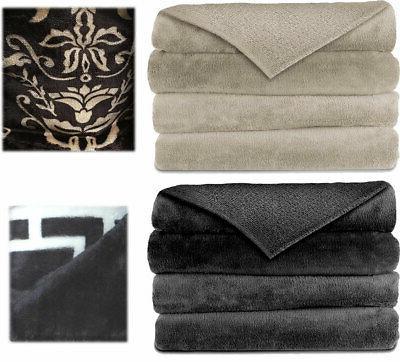 electric heated velvet plush warming throw blanket