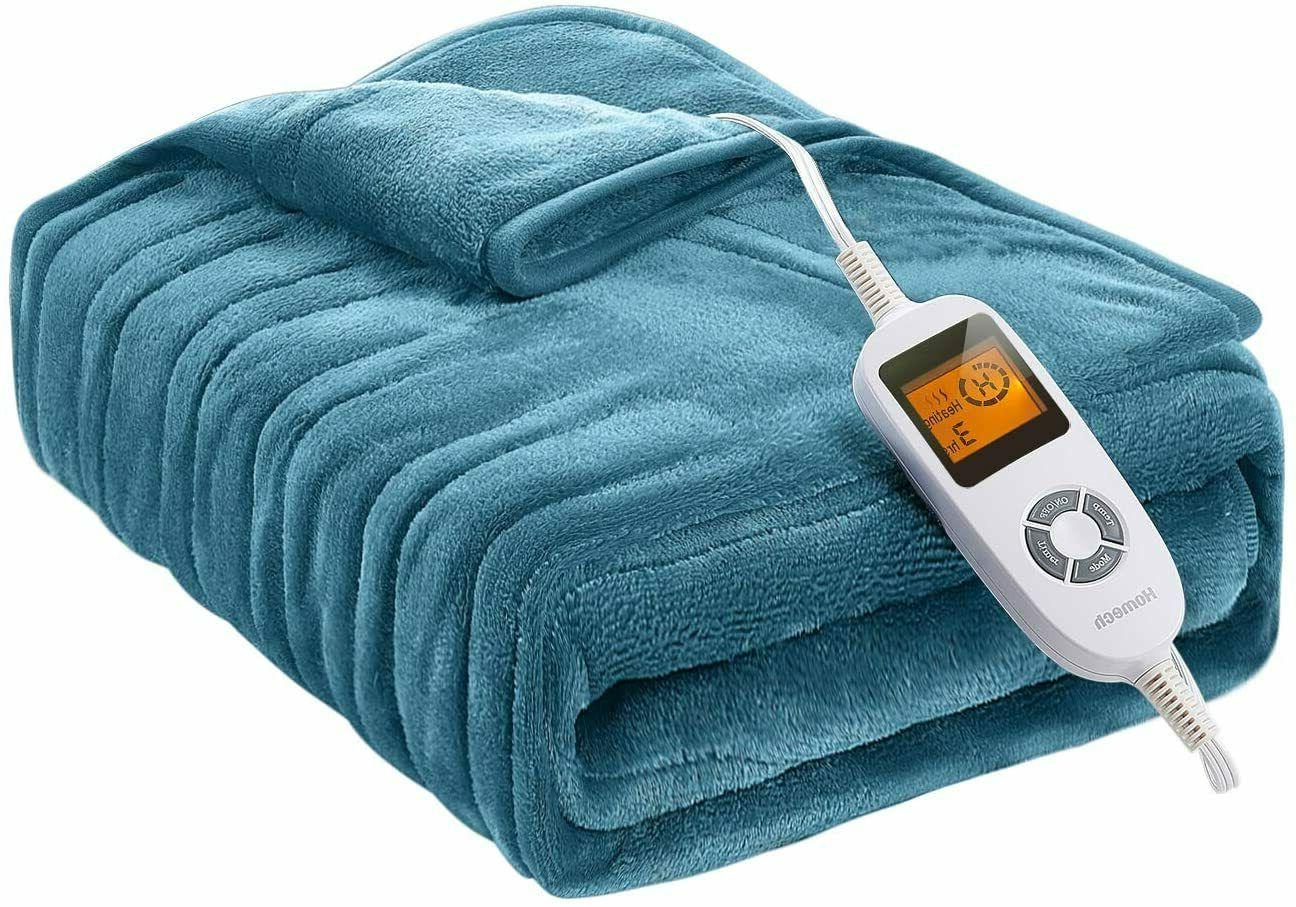 electric throws electric blankets with double layer