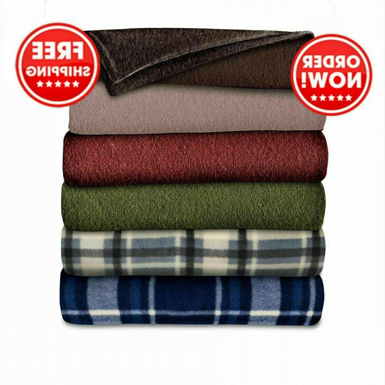fleece blanket electric heated throw super soft