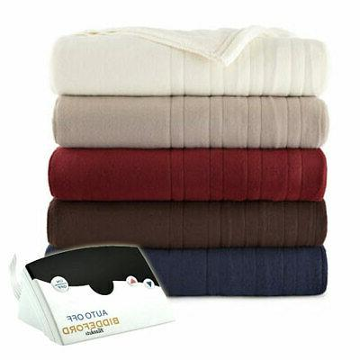 fleece digital electric heated blanket twin full