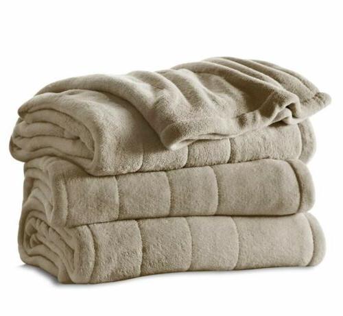 Sunbeam Full Microplush Blanket with 10 Settings