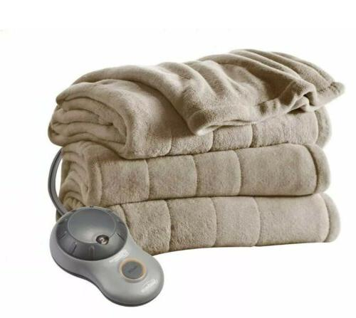 full electric microplush blanket with 10 heat