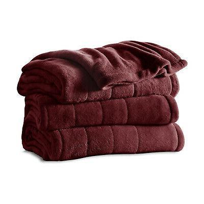 full size soft microplush heated blanket