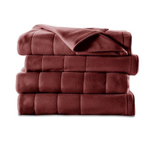 Sunbeam Heated Blanket 10 Quilted Fleece,