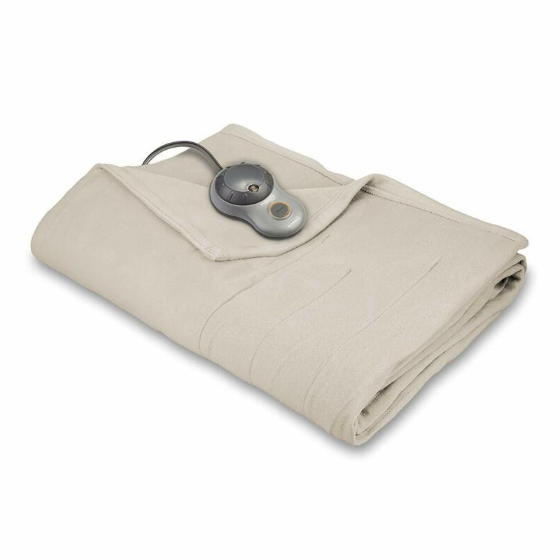 Sunbeam Heated Blanket | 10 Heat Settings, Quilted Fleece, S