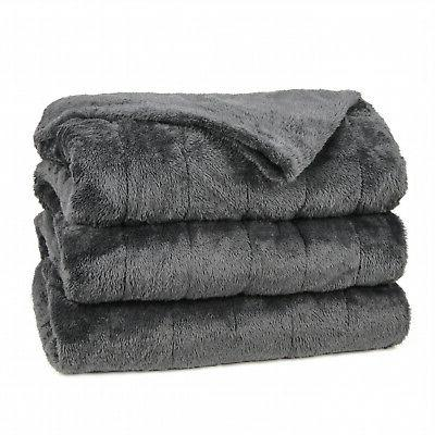 heated electric microplush blanket with 10 heat