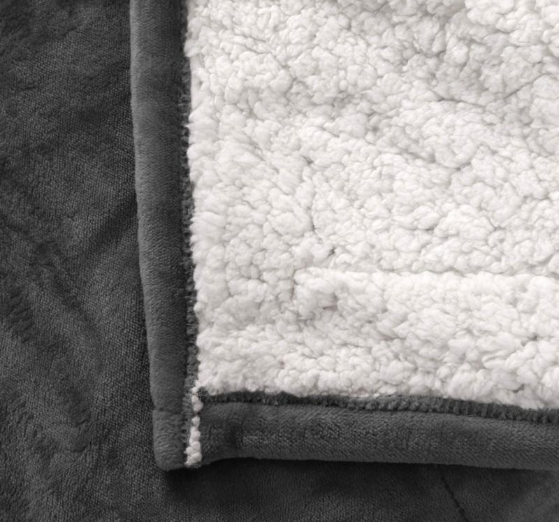 MARQUESS Heated Throw Electric Micro Plush Sherpa and Flannel