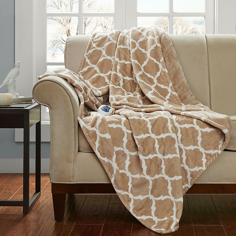 Large Soft Blanket Throws Plush Microlight Heated Throw Blanket