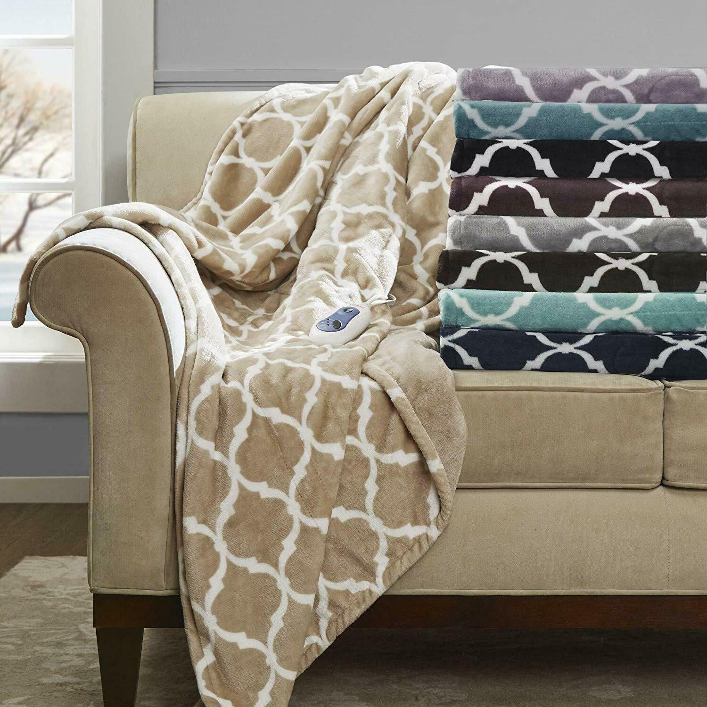 large soft blanket throws plush microlight print