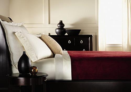 Sunbeam Blanket LoftTec, 10 Heat Settings, Garnet,