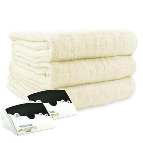luxurious microplush electric heated blanket king size