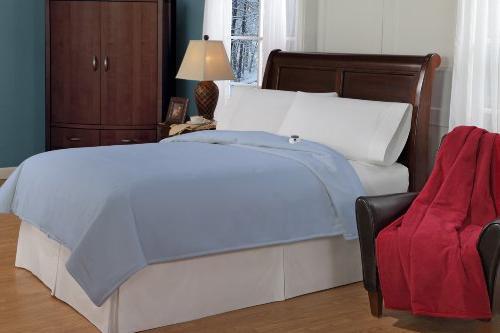 Soft Heat Luxury Low Heated Blanket Blue