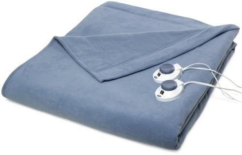 Soft Heat MicroFleece Low Voltage Electric Blanket Twin Blue