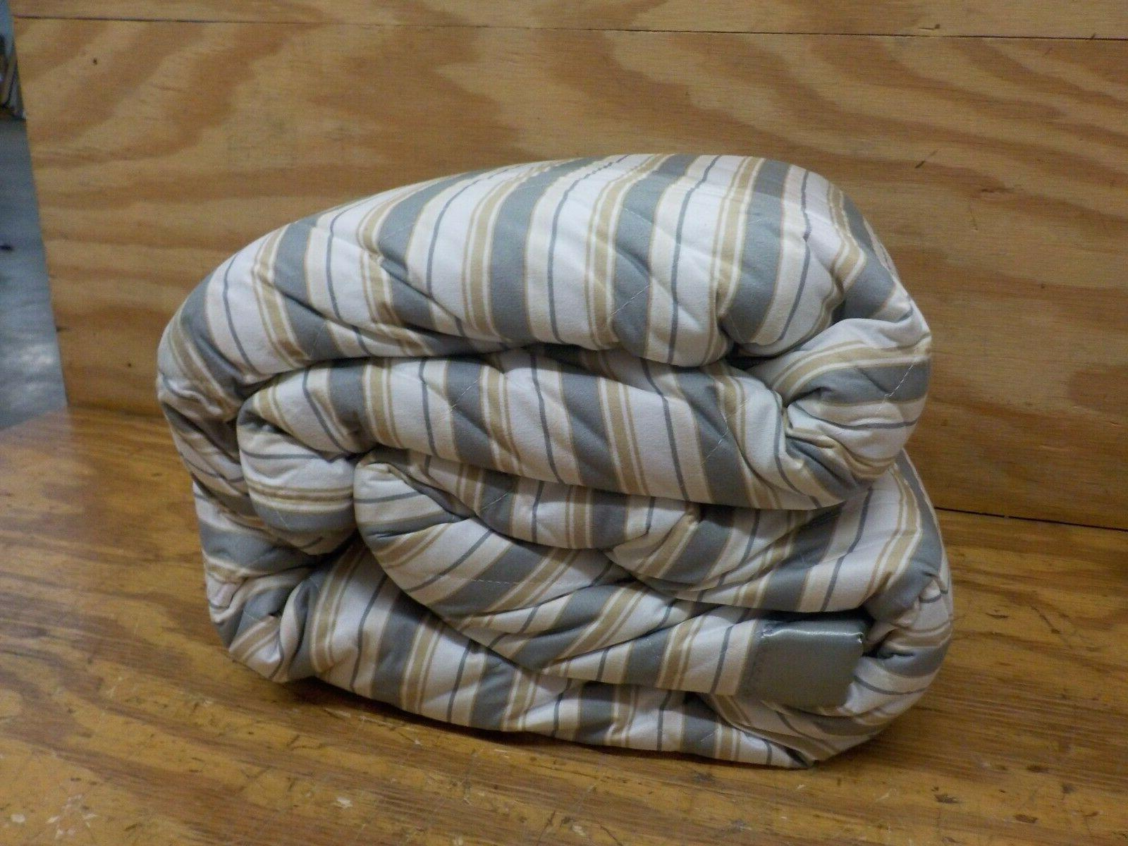 Thermee Blanket with Sherpa, Stripe, Full