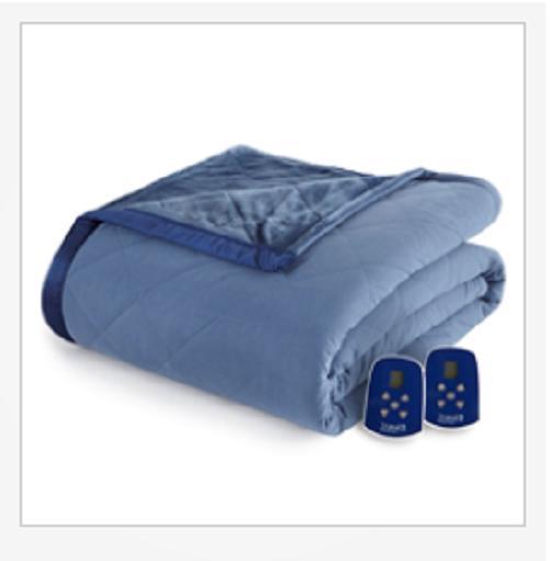 micro flannel ultra velvet reversible electric blanket