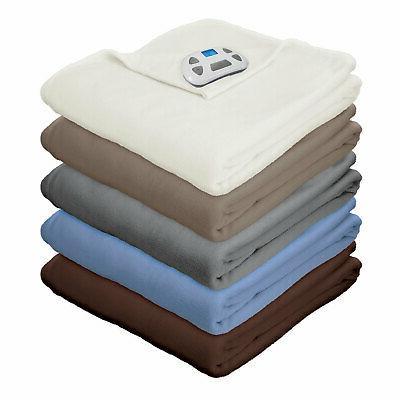 micro fleece electric heated warming blanket digital