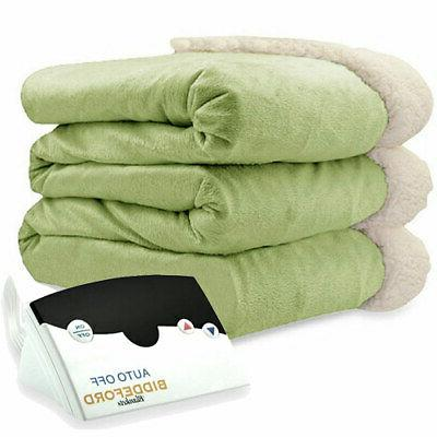 Biddeford Mink and Sherpa Heated Assorted Sizes Colors