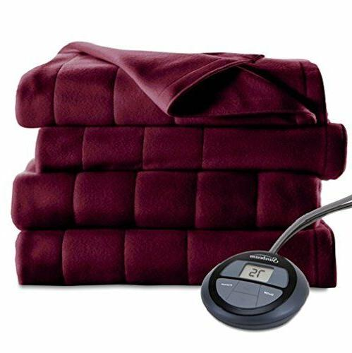 King Size Dual Control Electric Blanket Microplush 10 Heat S