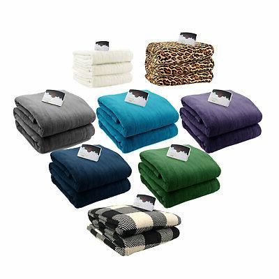 microplush electric heated blanket digital assorted sizes