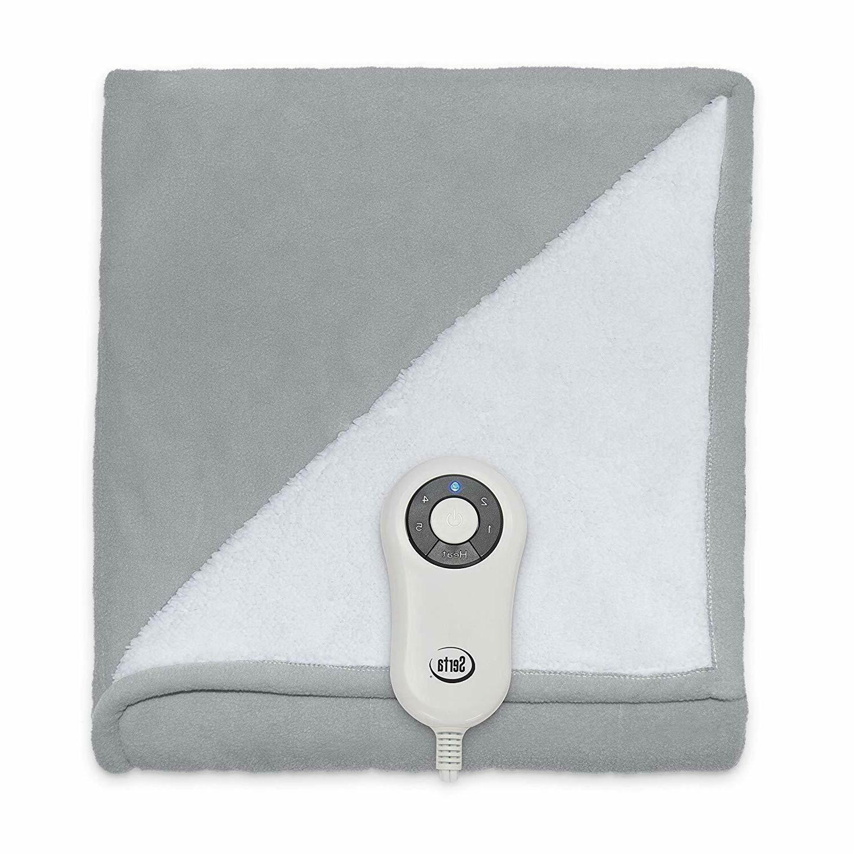 Microplush Electric Heated Throw W/ Remote - Gray - x 60