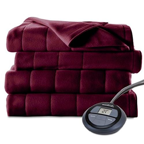 microplush heated blanket