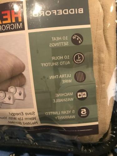 Microplush BLANKET 2 Controllers Tan/ Beige