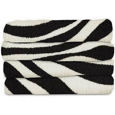SlumberRest MicroPlush Zebra Black Heated Throw