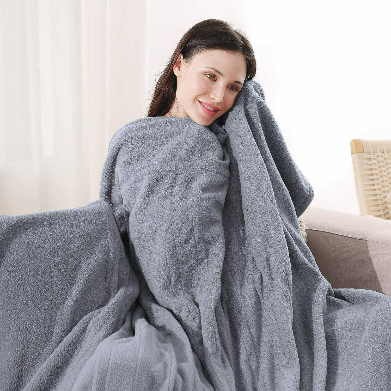 MaxKare Polar Fleece Heated Twin Size 62'' x 84'' HLB-TF