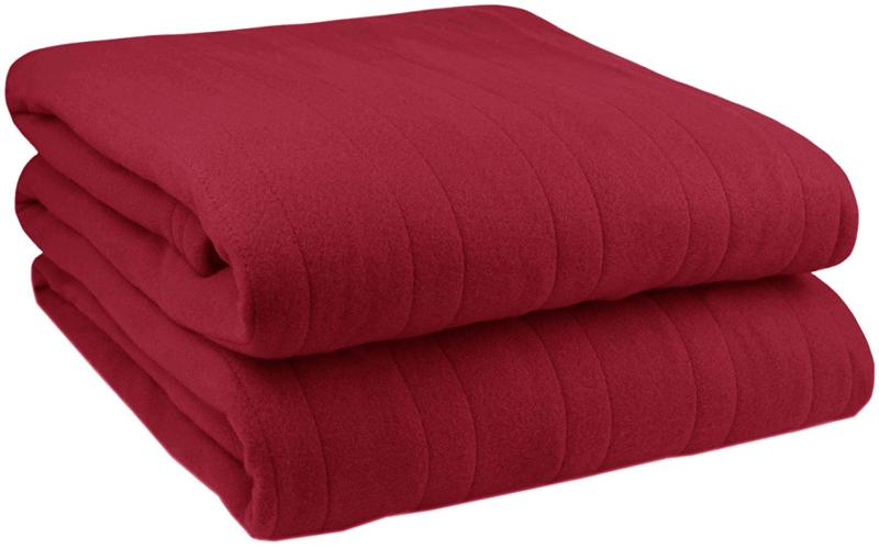 Pure Warmth Comfort Knit Electric Heated King Blanket Claret