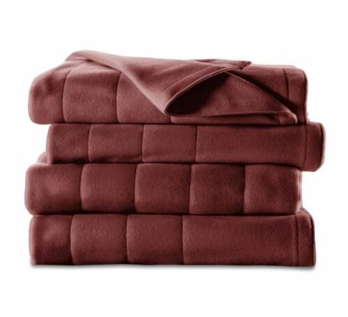 King Fleece Soft Quilted Blanket Dual Controllers