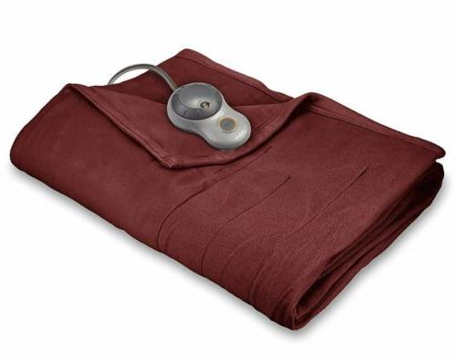 king size fleece soft quilted electric heated