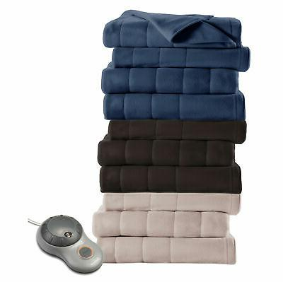 quilted fleece electric heated warming blanket g9