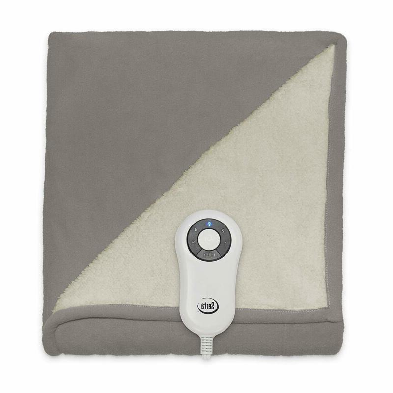 Serta | Sherpa/Fleece Heated Blanket,