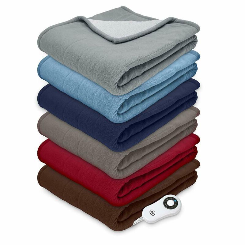 Sherpa/Fleece Heated Blanket,