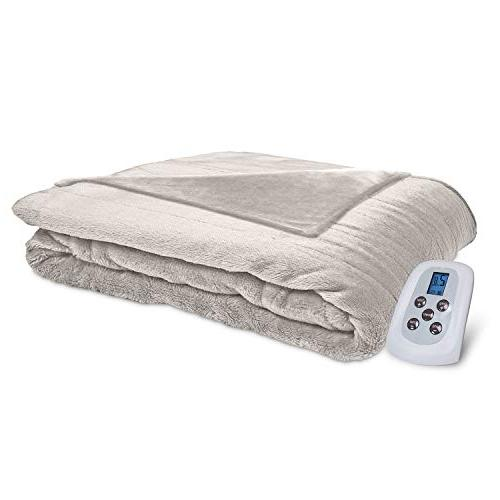 Perfect Fit Silky Plush Electric Warming Twin Ivory