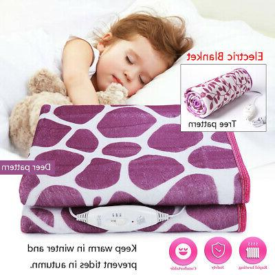 single bed electric heated blanket heating mat