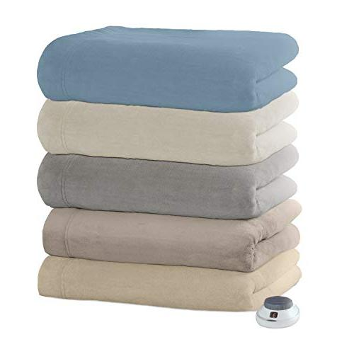   Velvet Plush Heated Electric Warming with Safe Low-Voltage Technology