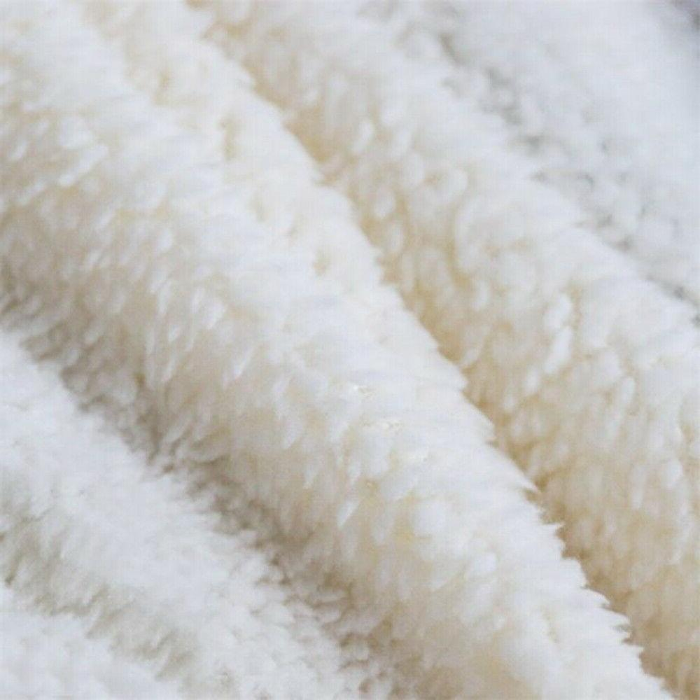 Wolf Printed Sherpa Blanket Rug for Sofa Couch Bed