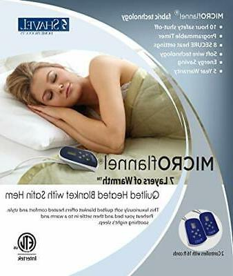 Thermee Micro Flannel Electric Blanket, Pinecone,